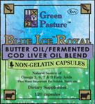 BLUE ICE™ ROYAL BLEND / Fermented Cod Liver Oil Concentrated Butter Oil Capsules